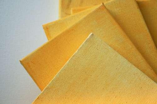 Canvas Stretched Art Prepared Wash Yellow Ochre