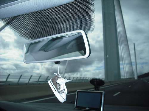 Car Pont Millau Rear View Mirror
