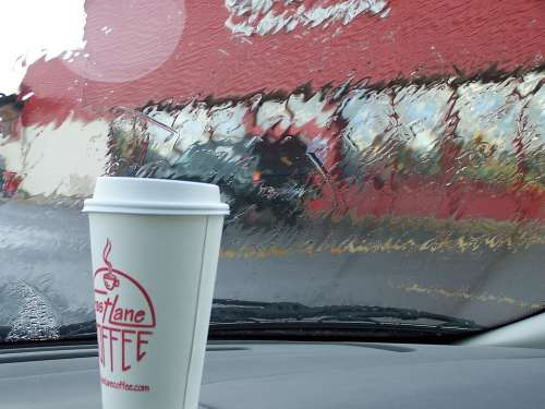 Car Trip Coffee Rain Cup Morning Weather Break