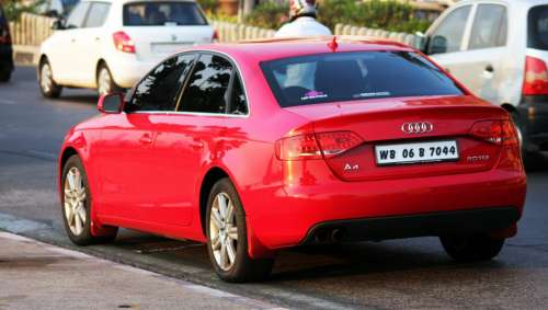 Car Red Vehicle Modern Transportation Automobile