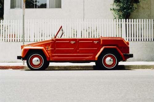 Car Vintage Red Oldtimer Vehicle Automobile Old