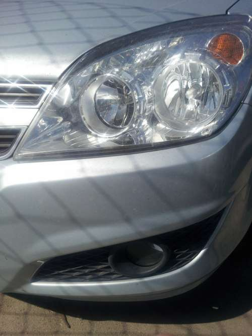 Car Front Lighthouse Silver Grid