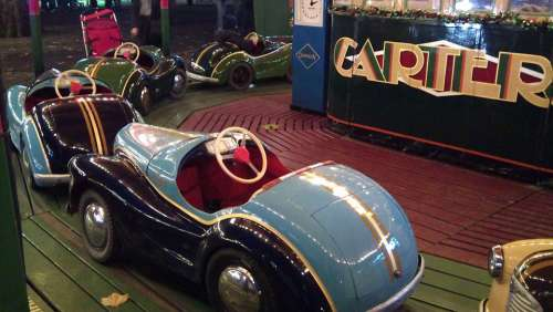 Car Vintage Retro Child Fairground Attraction