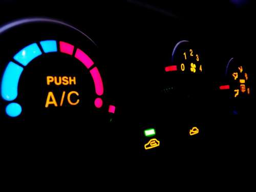 Car The Instrument Panel Air Conditioning Lighting