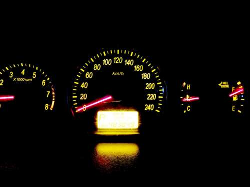 Car The Instrument Panel Speedometer Lighting