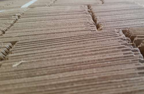 Cardboard Perspective Texture Abstract Art Paper