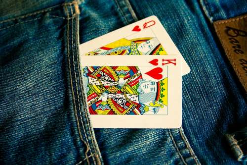 Cards Jeans Blue Pocket Fashion Clothing Casual
