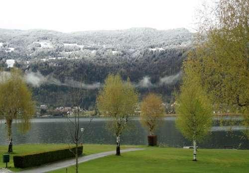Carinthia Austria Spring Winter Blast Lake Ossiach