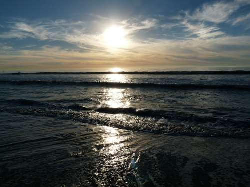 Carlsbad California Beach Seaside Sunset Ocean