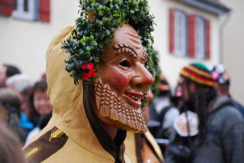 Carnival Shrovetide Mask Germany Parade Wheat