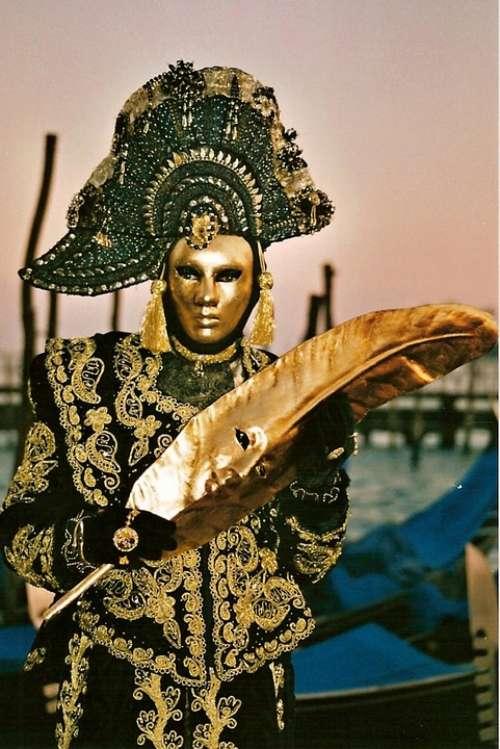 Carnival Mask Figure Ritual Venice Italy