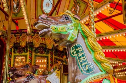 Carousel Park Holiday Roundabout Fun Horse