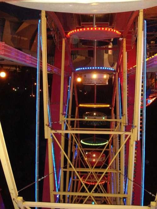 Carousel Year Market Fair Ride Theme Park Lights