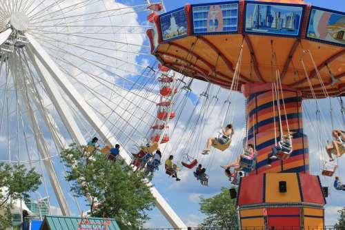 Carousel Rides Park Amusement Fun Ride Fair