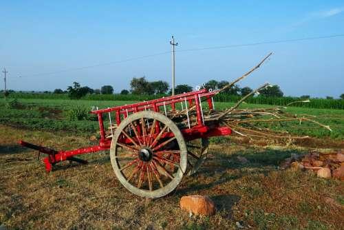 Cart Colorful Farm Utility Ilkal Highway Side