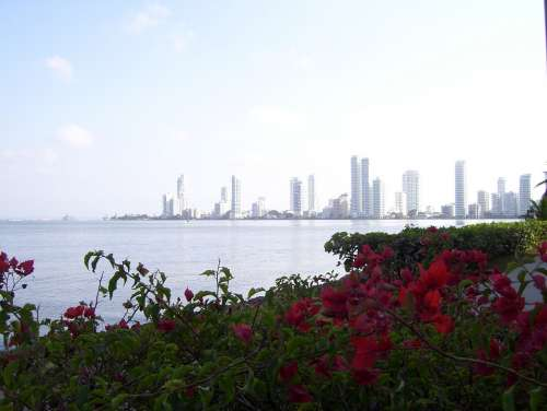 Cartagena Colombia Beach Caribbean Ocean Sea