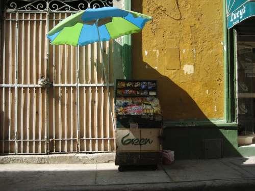 Cartagena Colombia Old Shadow Forging Window