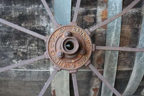Cartwheel Spokes Wheel Vintage Steel Iron