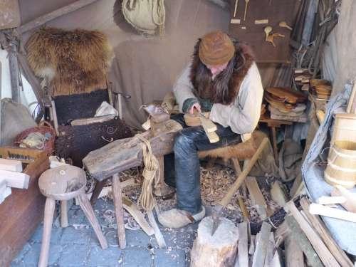 Carve Craft Craftsmen Man Human Workers