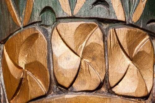 Carving Ornaments Temple Guardian Bali Wood