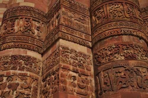 Carvings Building India Stone Temple Facade