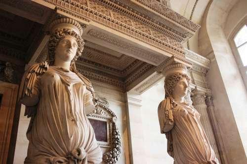Caryatids Sculpture Louvre