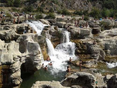 Cascade France Waterfall Rock