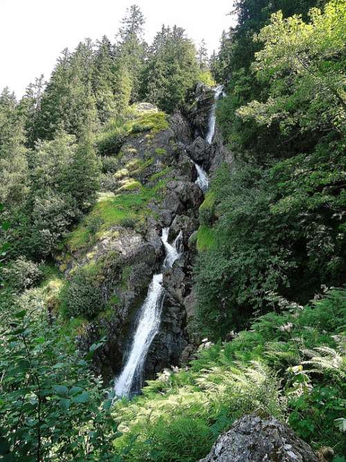 Cascade Nature Alps Landscape Hiking France