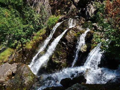 Cascades Alps Mountain Nature Landscape France