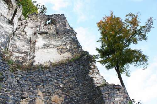 Castle Tower Ruin Building