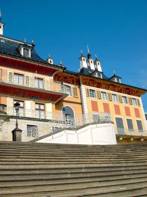Castle Pillnitz Terrace Shores Staircase