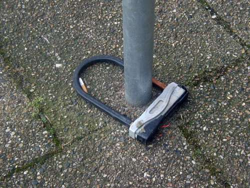 Castle Bike Lock Wheel Lock Close Security Secure