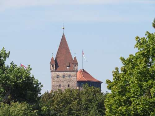 Castle Tower Middle Ages Nuremberg Square Tower