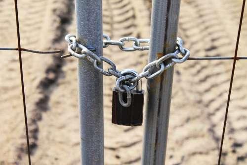 Castle Closed Curtain Lock Close Padlock