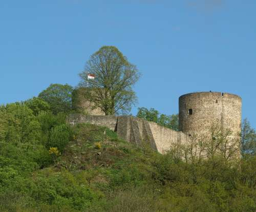 Castle Stad Blankenberg Bergisches Land Towers
