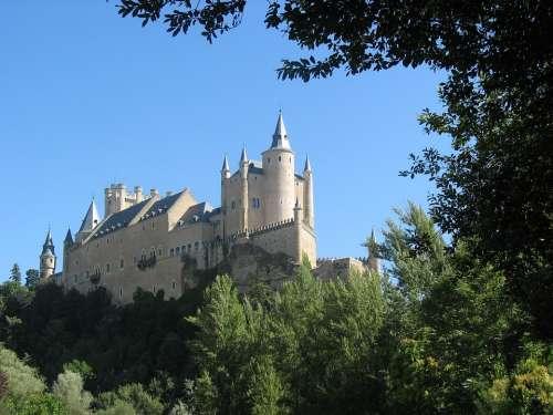 Castle Segovia Spain Castillo Segovia Alcazar