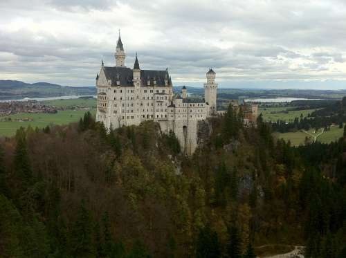 Castle Neuschwanstein Landscape Views