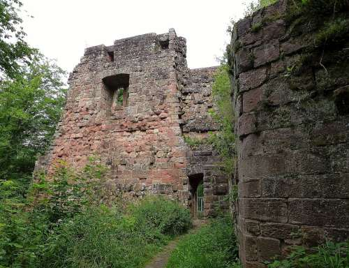 Castle Building Middle Ages Historically Old