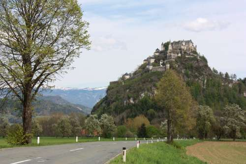 Castle Austria Road Hill Fortress Middle Ages