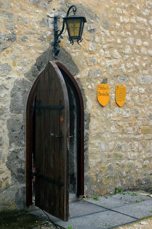 Castle Door Old Input Middle Ages Still Life