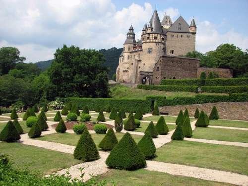 Castle Bürresheim Garden Eifel
