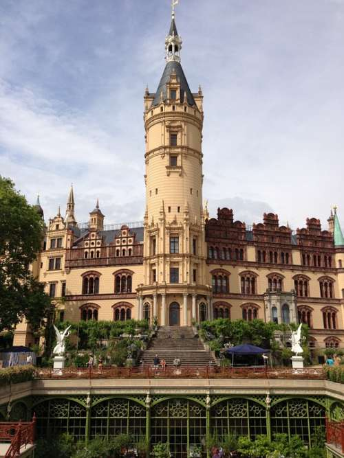 Castle Schwerin Mecklenburg Western Pomerania Tower