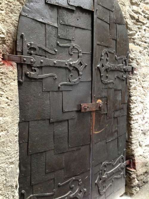 Castle Door Middle Ages Historically Hinged Door