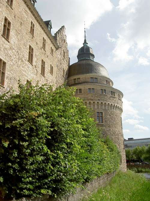 Castle Orebro Landmark Tower Sweden