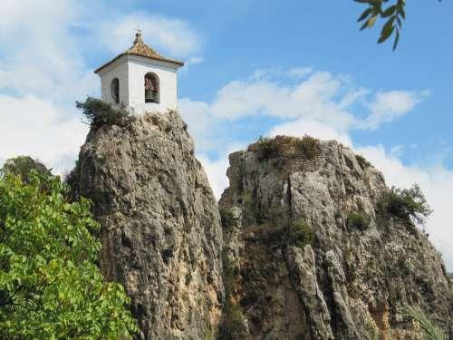 Castle Guadalest Spain Rock Chapel