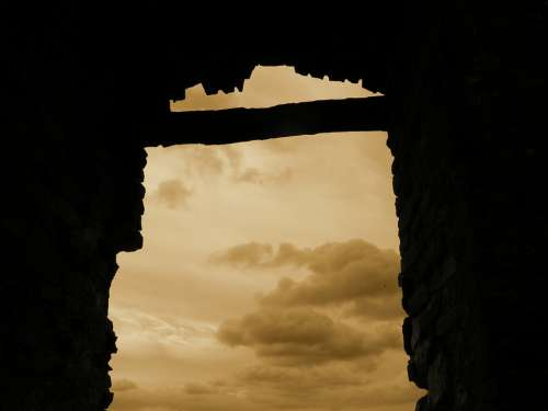 Castle Heaven Shadow Clouds Window Middle Ages
