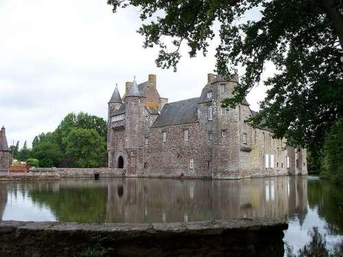Castle Lake France Bretagne Château De Trécesson