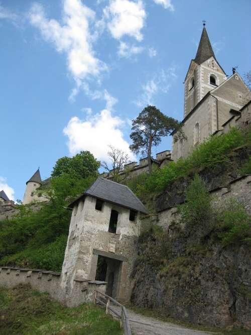 Castle Hochosterwitz Austria Carinthia Church