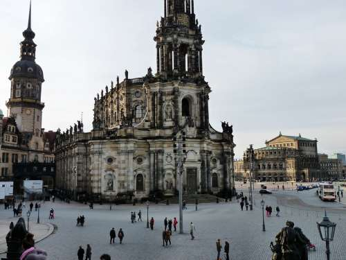 Castle Church Dresden City Saxony