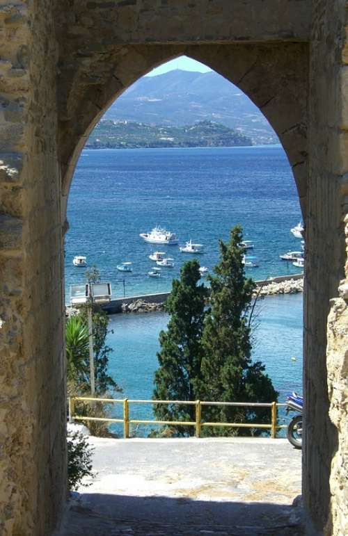 Castle Gate Pilos Greece By Looking
